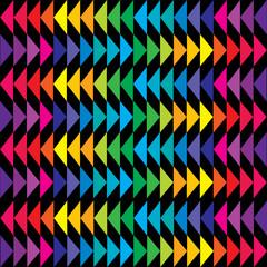 Colored triangle background in bright tones