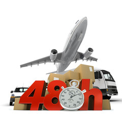 Air transportation in 48 hrs