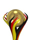 Fototapety Fussball Pokal Deutschland gold