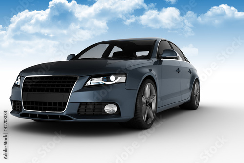 Modern Car with cloud