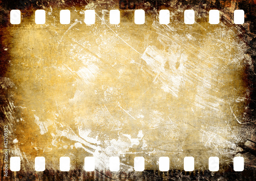 Zerkratztes Filmnegativ