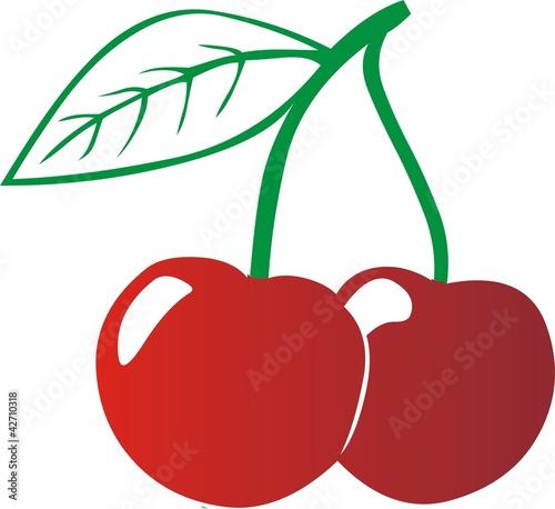 Cerise de alain wacquier photo libre de droits 42710318 - Dessin de cerise ...