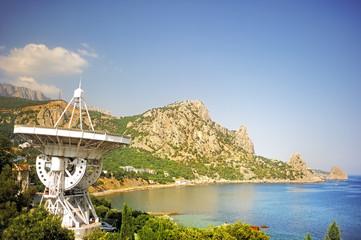 Радио телескопе Крымской астрофизической обсерватории.