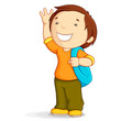 Kid with School Bag