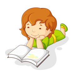 Baby Girl Reading Book