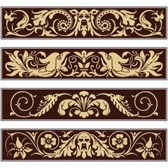 Victorian Ornamental Vintage Vector Decoration Border