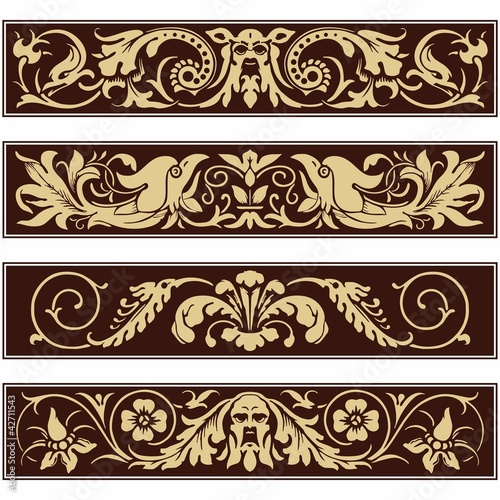 Victorian Ornamental Vintage Vector Decoration Border