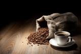 Fototapeta fasola - czarny - Kawa / Herbata / Czekolada