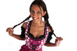 Wunderhübsche Frau im Dirndl / Bayerische Trachten