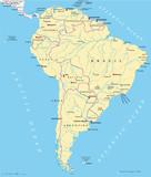 South America Map (Südamerika Landkarte)