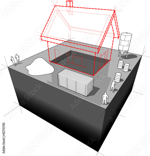 House under construction diagram