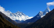 Nepal, Everest Region, Mt. Everest - Lhotse range