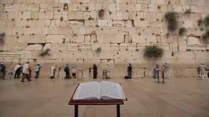 Bible book Wailing Wall Jerusalem