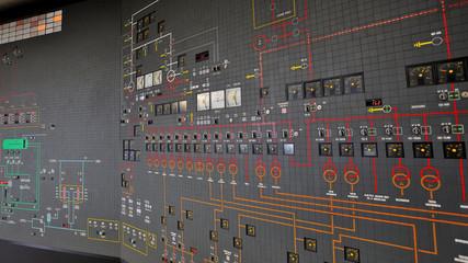 sala controllo di impianto di produzione energia