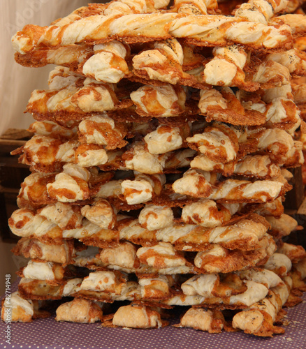A Stack of Freshly Made Cheese Straws.