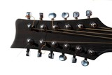 close-up of the headstock of a twelve strings guitar poster