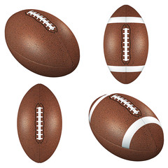 Footballs isolated on white