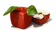 Red apple cube