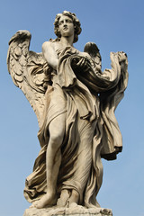One of the angels at the Ponte Sant'Angelo in Rome