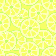 Lime slices square pattern background