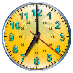 7 tropical clock