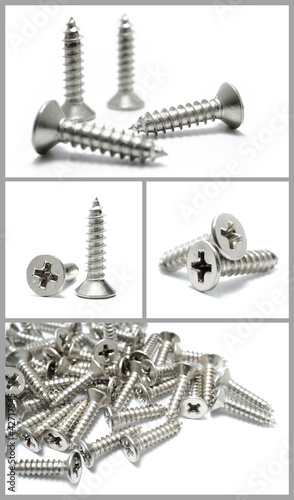 set of metal screws