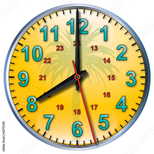 8 tropical clock