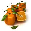 Fresh cubic oranges