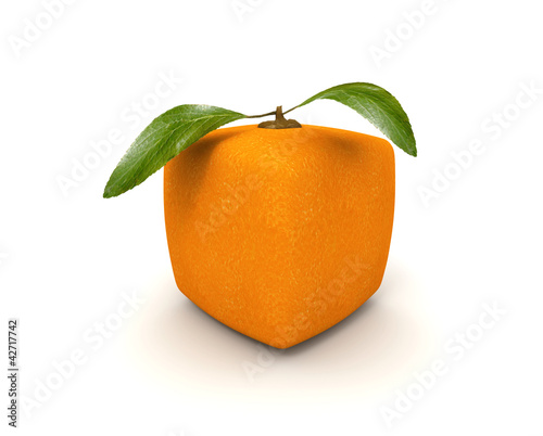 Cubist orange
