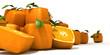 Cubic orange pile