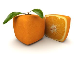 Cubic orange and half