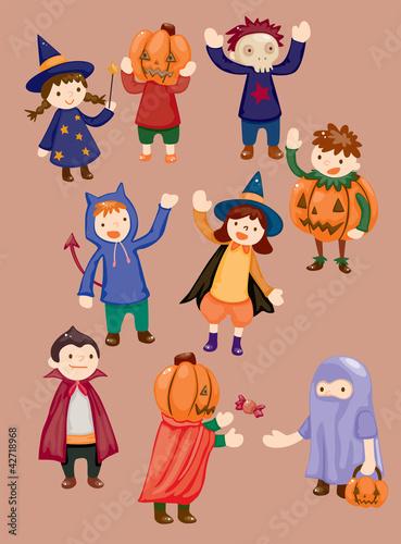 Halloween party child icon