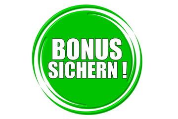Bonus sichern grün