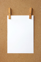 Clip and White blank note