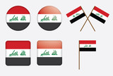 set of badges with flag of Iraq vector illustration