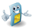 Cartoon mobile phone sim card man