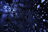 Blue cubic space - 42722933