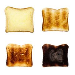 Toastbrot Scheibe isoliert auf weiß