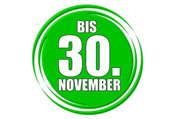 bis 30.November grün
