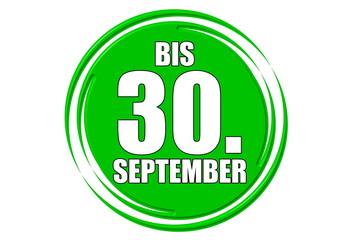 bis 30.September grün