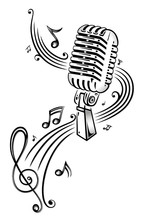 Muzyka, muzyka notatek, notatki, klucz wiolinowy, kuchenka