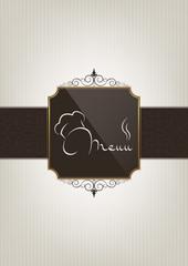 Abstre restaurant menu cover
