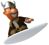 Viking surfing