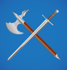 Sword and axe crossed