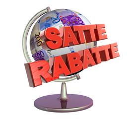 3D Geldglobus - SATTE RABATTE