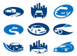 Car. Abstract element set of sign templates