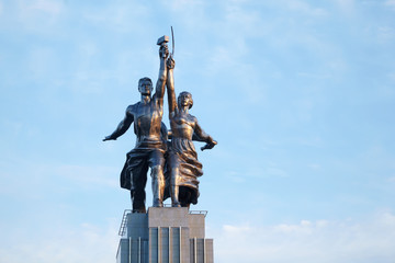 Famous soviet monument Worker and Collective Farmer