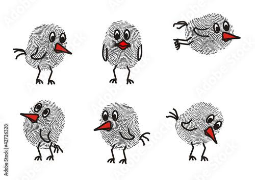Gamesageddon Fingerabdruck Vogel Lizenzfreie Fotos Vektoren Und