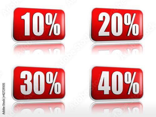 10 20 30 40 percents