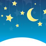 Vector illustration of stars by night